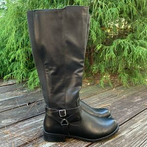 Style & Co Brigyte Vegan Leather Riding Boots